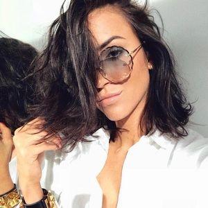 Brand New Chloe Rosie Rimless Scalloped Sunglasses